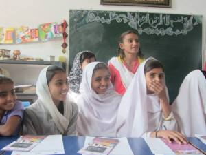 a group of girls at Jamshoro who are striving to change status quo